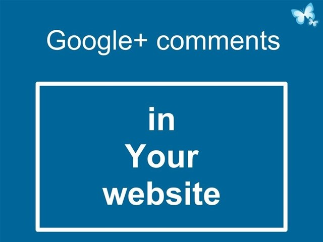 Google+ comments in your website