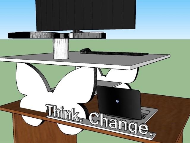 Koncept stoječe delovne mize Kainoto