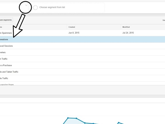 View non spammed segment in Analytics